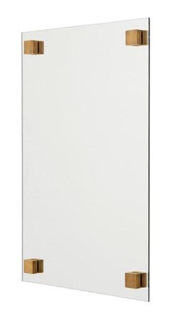 Nordal Neliskanttinen peili 60x40 cm - Messinki