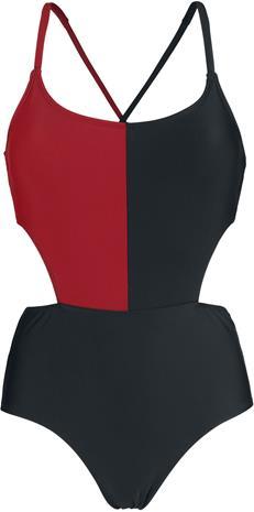 Harley Quinn Diamonds Uimapuku musta-punainen