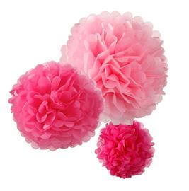 Pom Pom Vaaleanpunainen Riippuva Koriste 3-pakkaus