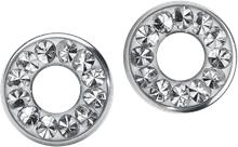 Steel Basicline® Flesh Tunnel Crystal Clear Nappikorvakorusetti hopeanvärinen