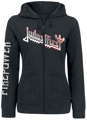 Judas Priest Firepower Naisten vetoketjuhuppari musta