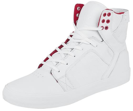 Supra Skytop - Snow White Tennarit valkoinen-punainen