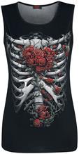 Spiral Rose Bones Naisten toppi musta