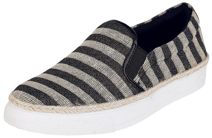 Refresh Striped Slip On Tennarit musta-beige