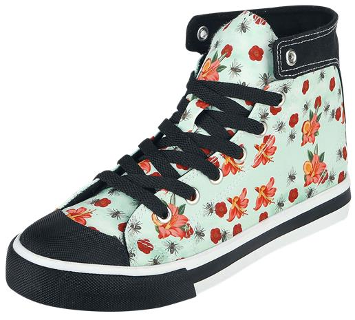 Pussy Deluxe Flowers and Bees Sneaker Tennarit vaaleansininen