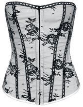 Alcatraz Pimpernell Corset Korsetti valkoinen-musta