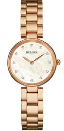 Bulova Ladies Rose Gold Watch 97S111 - LQ