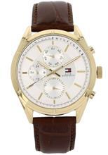 Tommy Hilfiger Men's Brown Leather Watch 1791127 - LQ