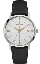 Bulova Men's Black Leather Watch 98B254 - LQ