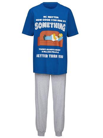 Pyjama 'Homer Simpson' royalsininen/meleerattu harmaa39971/30X