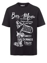 T-paita Men Plus musta/valkoinen80954/10X