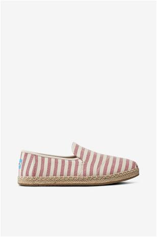 "TOMS ""Deconstructed Alpargata Rope, Red Stripes -espadrillot"""