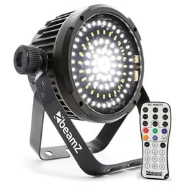 beamZ BS98 LED-strobo stroboskooppi 98 SMD-LED-valoa DMX valkoinen IR-kaukosäädin