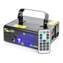 BeamZ Elara tuplasäteilylaser 18 W RB 12-Gobo 6-DMX IR-kaukosäädin