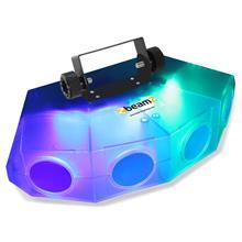 beamZ Mini-Moonflower-valoefekti 4-LED-linssiä 132xRGBA-LEDiä läpinäkyvä