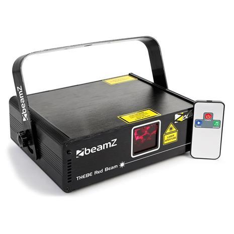 beamZ Thebe showlaser 150mW punainen 9-DMX Master/Slave automaattinen IR-kaukosäädin