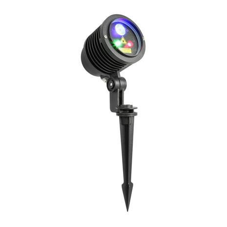 beamZ ulkoilma-laser-valonheitin 3W RGB LED IRC, kauko-ohjattava, maatappi