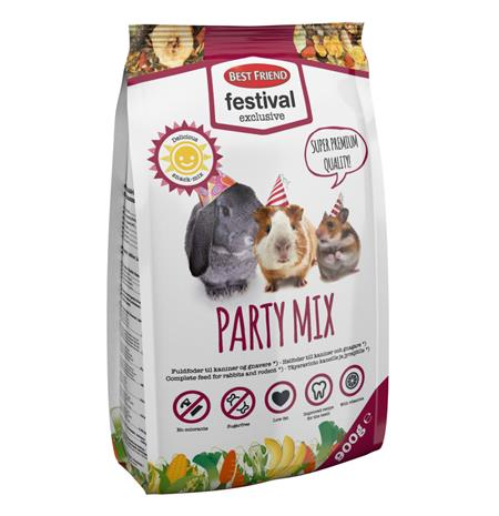 Best Friend Jyrsijän ravinto 900 g Party Mix