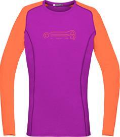 Norrøna Fjørå Equaliser Lightweight Naiset pitkähihainen ajopaita , oranssi/vaaleanpunainen