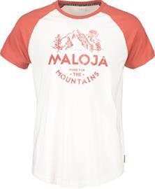 Maloja BeverM. Miehet Lyhythihainen paita , punainen/valkoinen