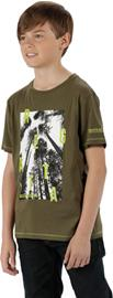 Regatta Bosley Lapset Lyhythihainen paita , oliivi