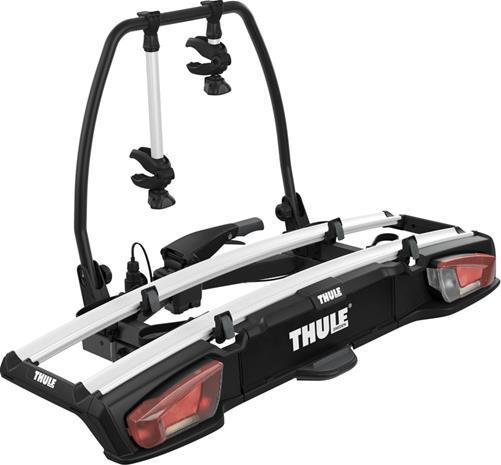Thule VeloSpace XT pyöränkuljetusteline autoon 2 polkupyörälle , musta/hopea