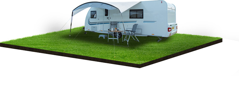 Vango Sun Canopy absidi for Caravan & Motorhomes 4m , harmaa