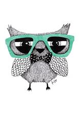 A Grape Design Hipster owl A3