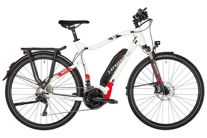 HAIBIKE SDURO Trekking 6.0 sähköavusteinen retkipyörä , punainen/valkoinen