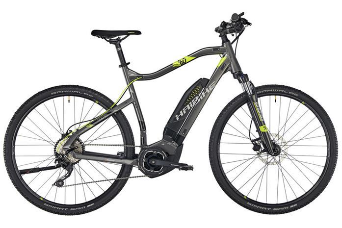 HAIBIKE SDURO Cross 4.0 sähköavusteinen hybridi-pyörä , harmaa