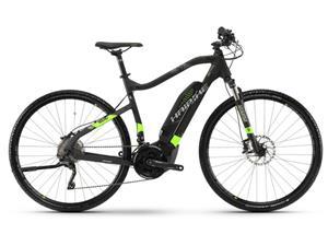 HAIBIKE SDURO Cross 6.0 sähköavusteinen hybridi-pyörä , vihreä/musta