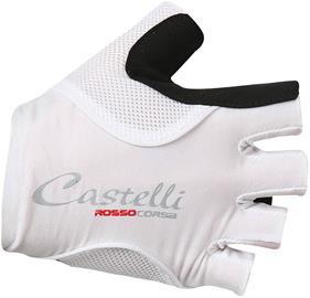 Castelli Rosso Corsa Pave Naiset ajohanskat , valkoinen/musta