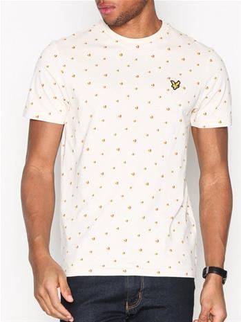 Lyle & Scott Beachball Print Shirt T-paidat ja topit White