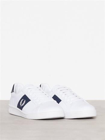 Fred Perry B721 Canvas Tennarit & kangaskengät White