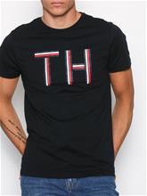 Tommy Hilfiger Logo Graphic Tee T-paidat ja topit Jet Black
