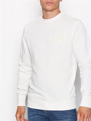Tommy Hilfiger Logo Sweatshirt Puserot Snow White