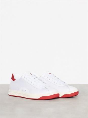 Polo Ralph Lauren Court 100 Sneakers Tennarit & kangaskengät Valkoinen/punainen