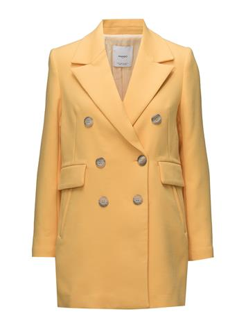Mango Contrast Buttons Coat YELLOW