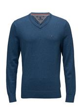 Tommy Hilfiger Pima Ctn Cashmere V- ENSIGN BLUE HEATHER