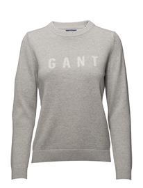 GANT O1. Gant Logo Crew LIGHT GREY MELANGE