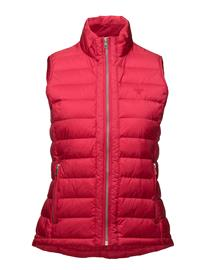 GANT O1. Light Weight Down Vest ROSE RED