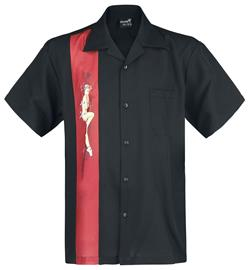 Steady Clothing Single Pin Up Panel Shirt Worker-paita musta