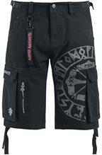 Amon Amarth EMP Signature Collection Shortsit musta
