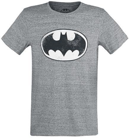 Batman Logo T-paita sävytetty harmaa
