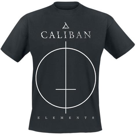 Caliban Cross T-paita musta