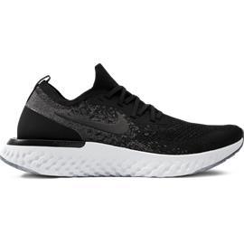 Nike M EPIC REACT FLYKNIT BLACK/WHITE/DK GRE