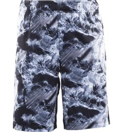 Soc J RUN SHORTS BLK PRINTED