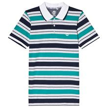 Navy and Green Stripe Polo8 years