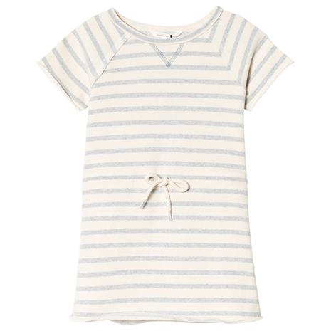 Gladis sweat dress Blue fog stripe98 cm