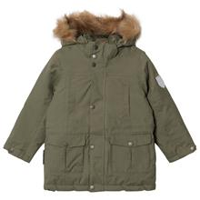 Parka Maron With Detachable Hood Four Leaf Clover128 cm